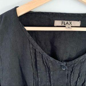 flax | linen henley blouse